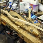 Paddle shaft glued