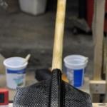 Carbon-fiber on back