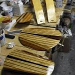 Hatches, etc varnished