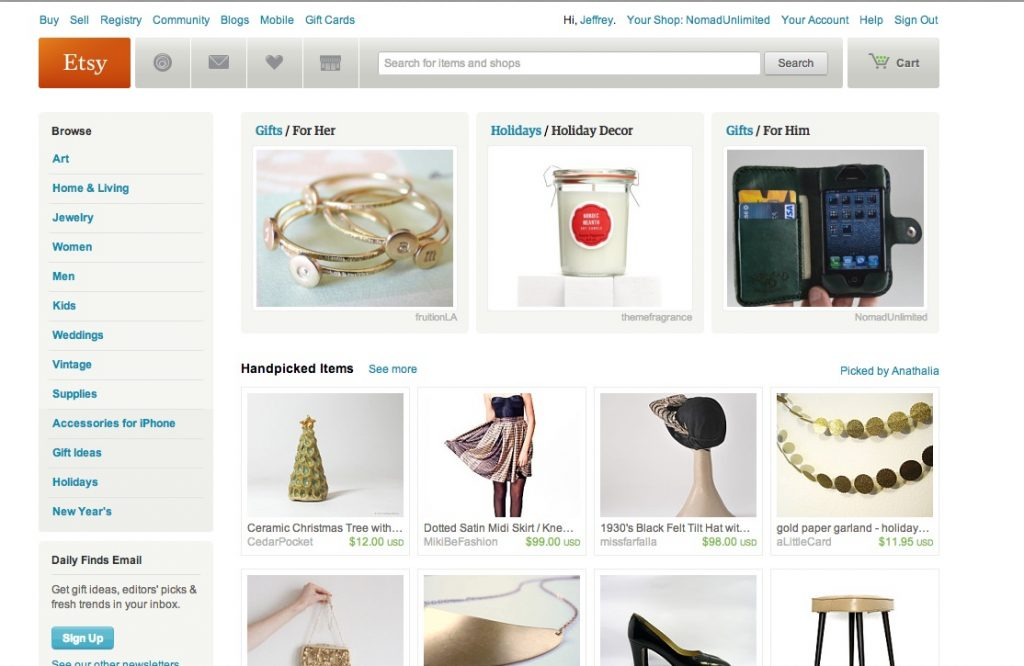 Etsy Front Page!